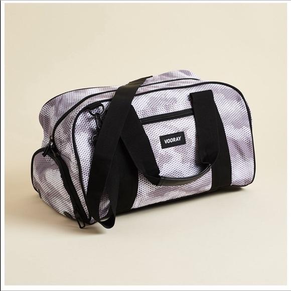 Vooray Handbags - New Vooray Burner Gym Duffel Snow Hex Camo Bag
